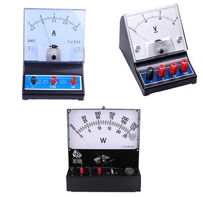 Different analog meter instruments