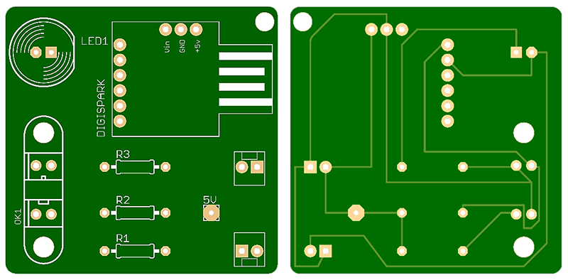 Funny Digital Toggle Switch Demo PCB Example