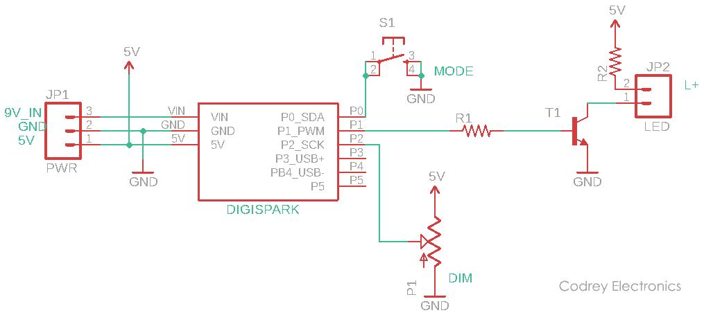 Tiny Task Light Circuit