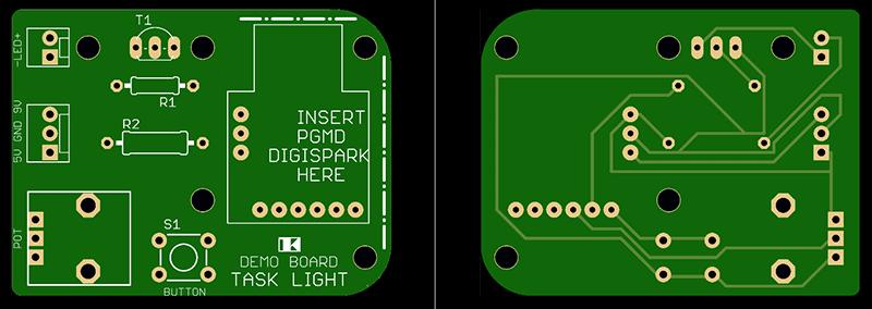 Tiny Task Light Demo PCB View