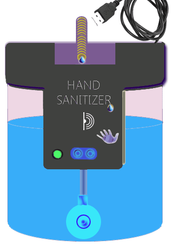 Automatic Hand Sanitizer Model Enclosure Art