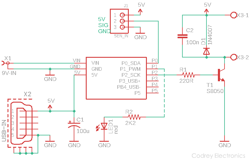 Fall Saver Infrared Bedside Alarm Schematic v1