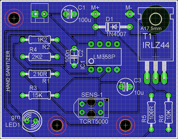 Hand Sanitizer PCB View