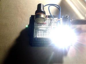 Arduino Stroboscope Lead Breadboard Setup