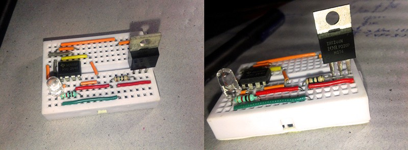 Digital Mosfet Breadboard Setup