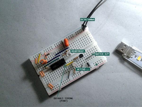 Automatic Fragrance Dispenser Breadboard Pointer
