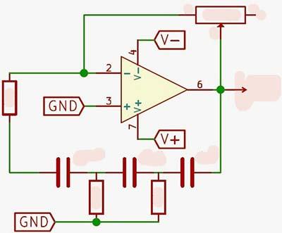 Op Amp PS Oscillator Circuit