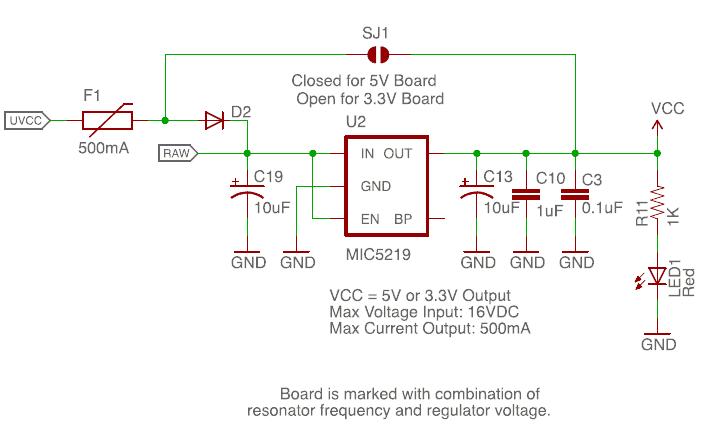 Pro Micro SF Circuit Snip