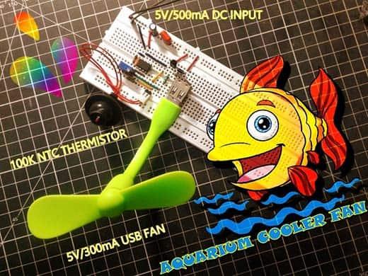 Aquarium Cooler Breadboard Test
