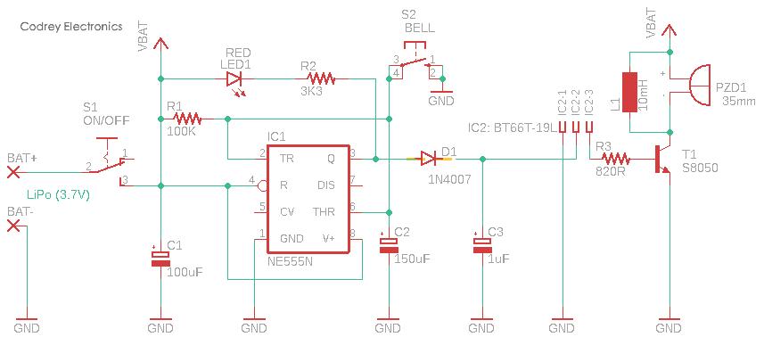 Musical Doorbell Circuit