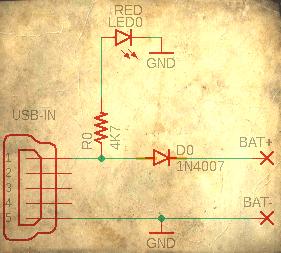 USB LiPo Crude Charger Circuit