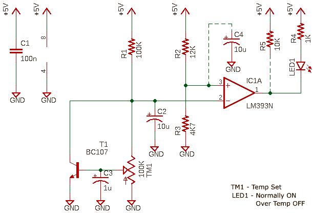 BJT Temp Sensor Schematic