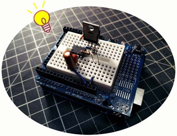 Breadboard Setup Light Flash Gun