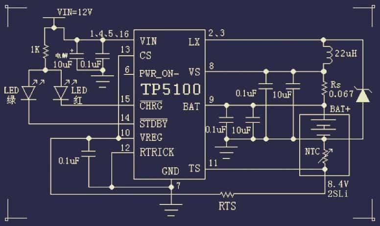 TP5100 Schematic