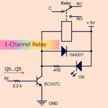 Single Channel Relay Schematic