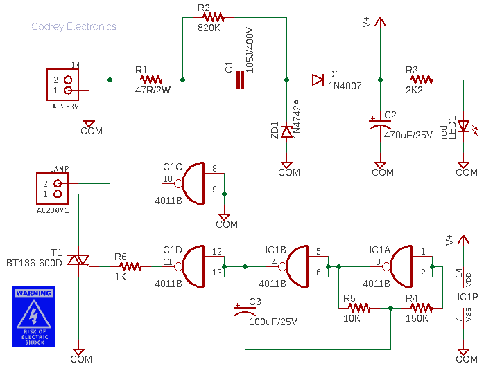 Ground Uplighter Circuit