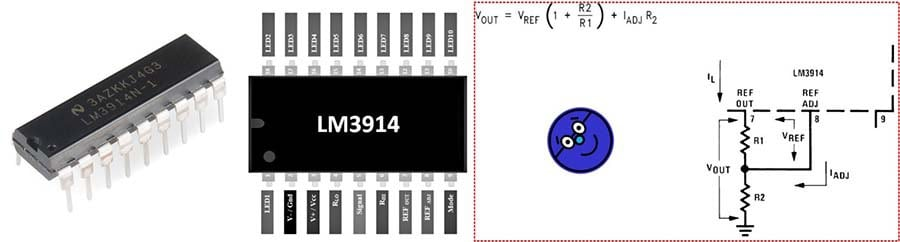 LM3914 IC-Int VREF