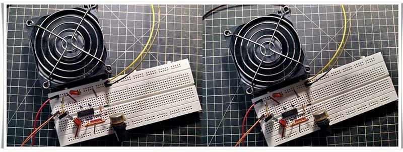 Simple Solder Fume Extractor Fan Test Breadboard (2)-side