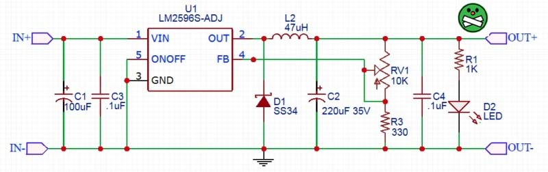 LM2596S Module Scheme