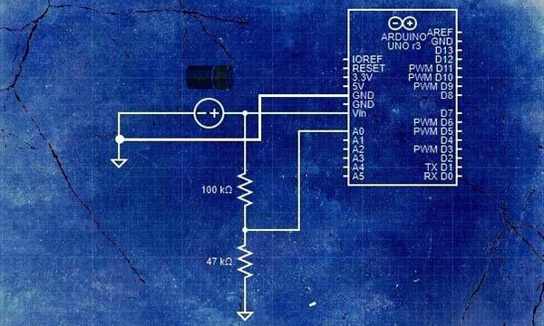 Arduino Battery Status Monitor Hardware Setup