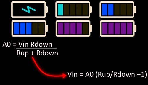 Arduino Battery Status Monitor Calc Sheet
