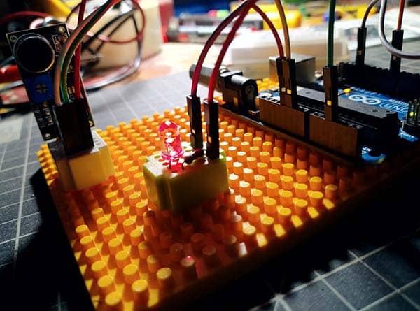 Clap Switch-Blow Switch DIY Arduino Test Setup