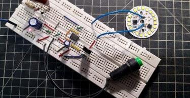 Self-Timing LED Lamp Breadboard DOB LED Test