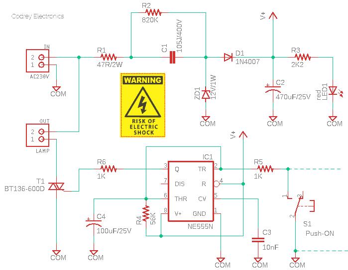 Self-Timing Lamp Circuit v1