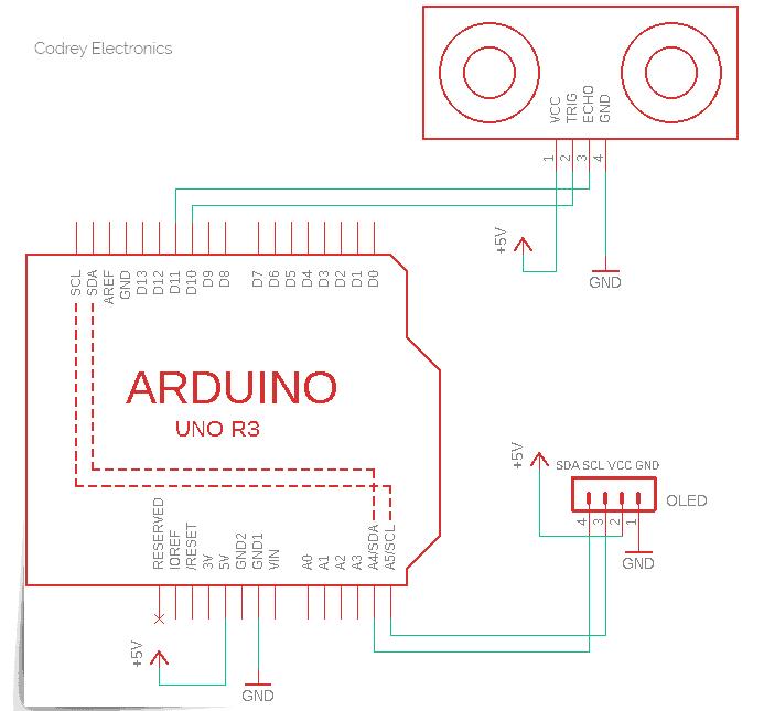 Ultrasonic Distance Meter Schematic